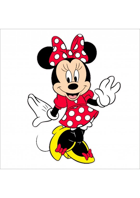 αυτοκολλητο minnie mouse