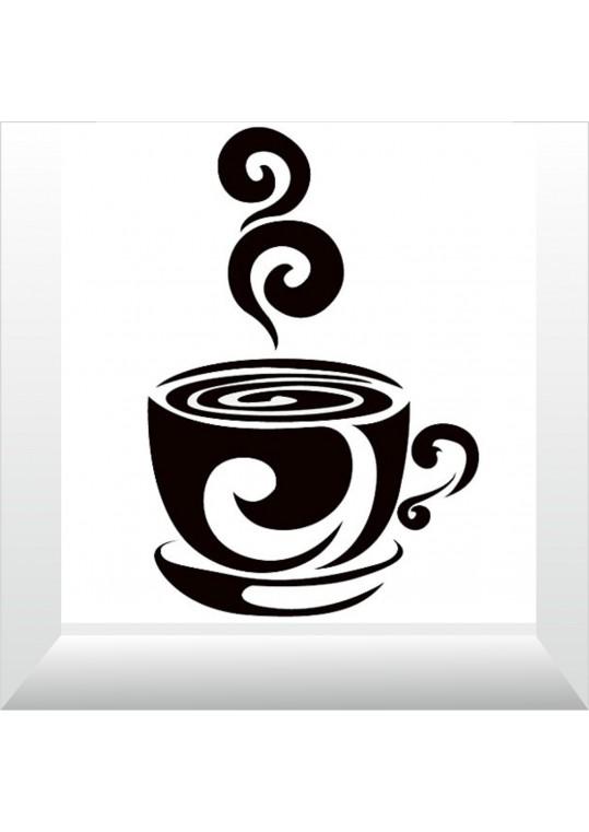 αυτοκόλλητο καφεδάκι