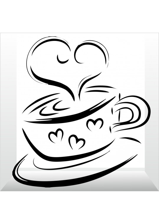 καφέ με καρδούλα