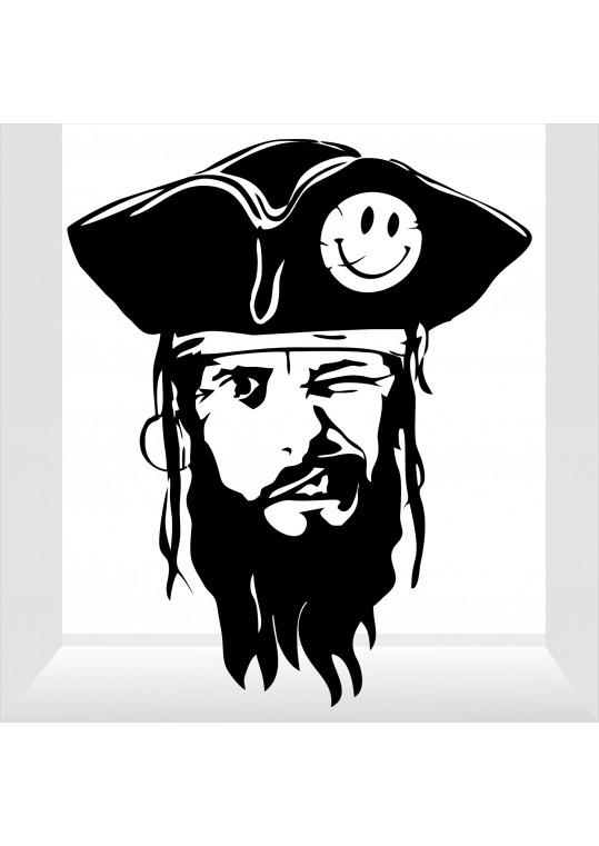 αυτοκόλλητο πειρατής