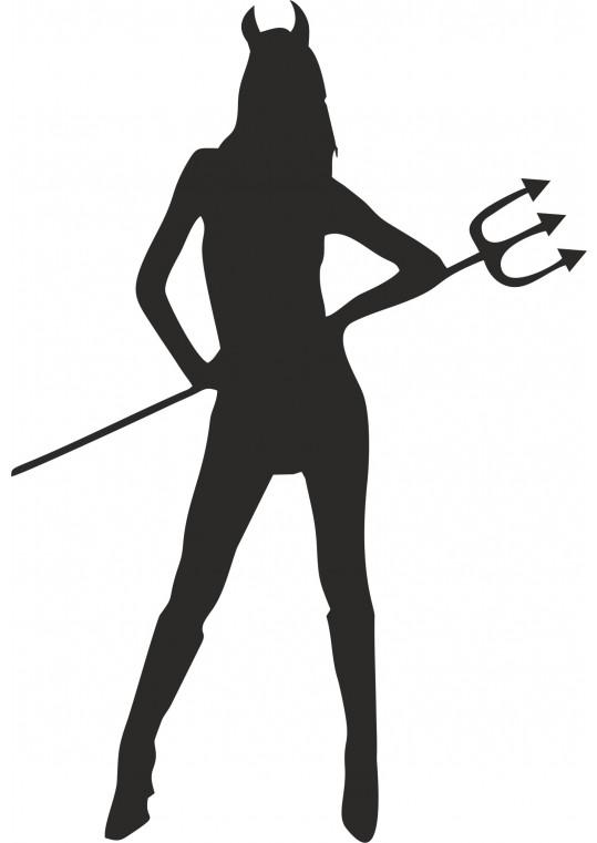 Αυτοκολλητο τοιχου διαβολικο κοριτσι