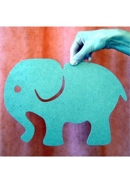 ελεφαντάκι Σχέδιο κομμένο σε ξύλο