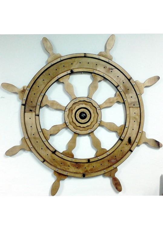 Διακοσμητικό τοίχου σε Ξύλο σκαλιστό τιμονι πλοιου