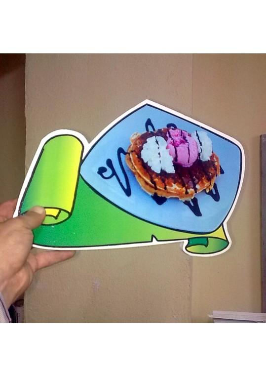βαφλες με παγωτο - waffles with ice cream