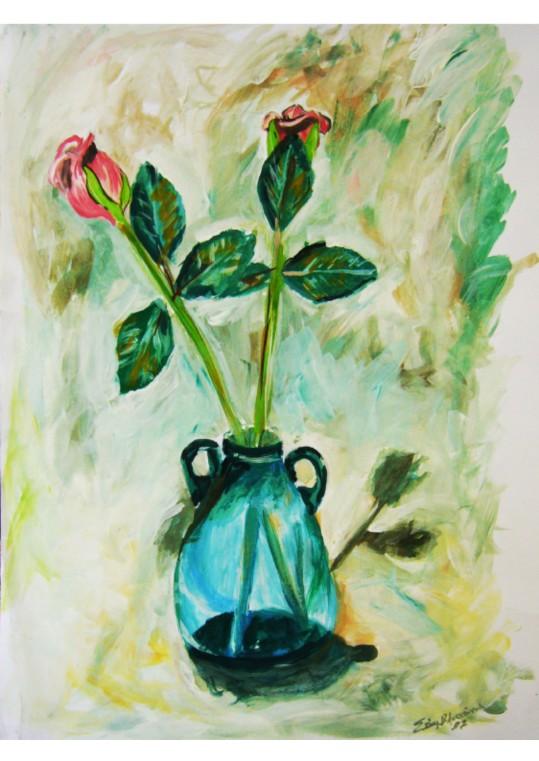 λουλουδια Αντίγραφο τυπωμένο σε καμβά